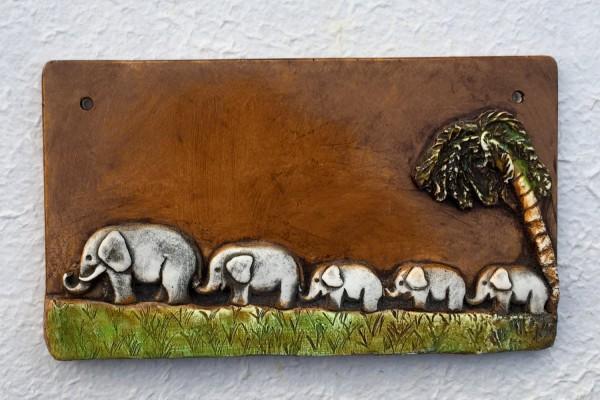 "Türschild ""Fünf Elefanten"""