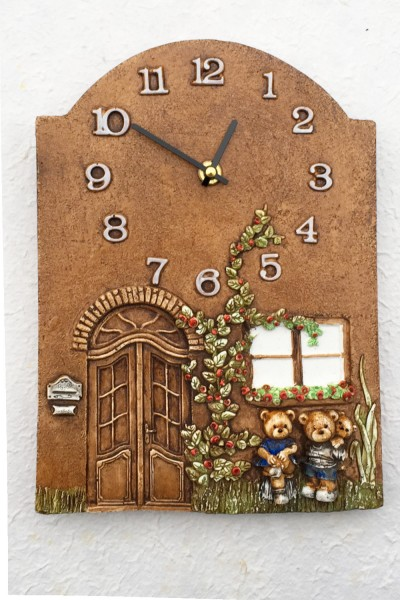 Wall Clock Bears