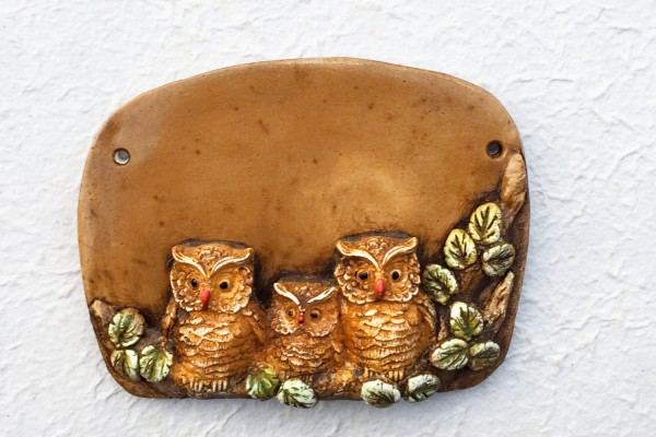 "door plate ""Three owls"""