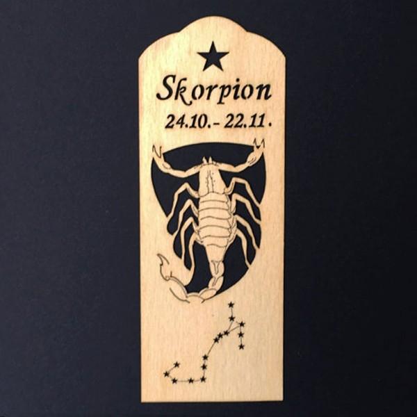 Lesezeichen Sternzeichen Skorpion