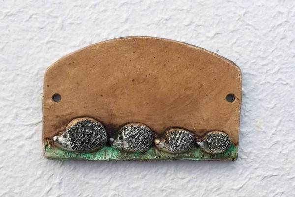 "door plate ""four hedgehogs"""