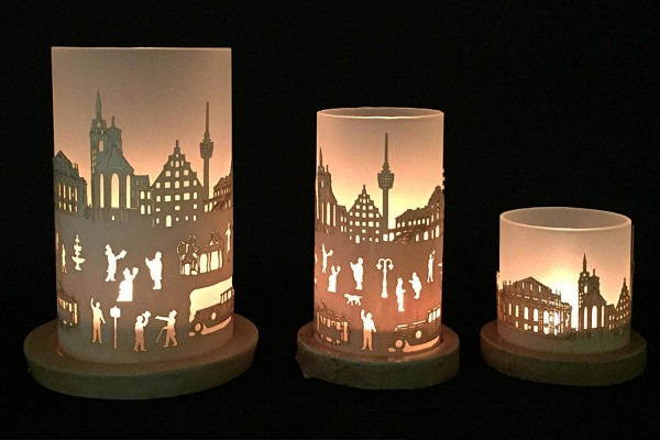 Windlicht Skyline Stuttgart
