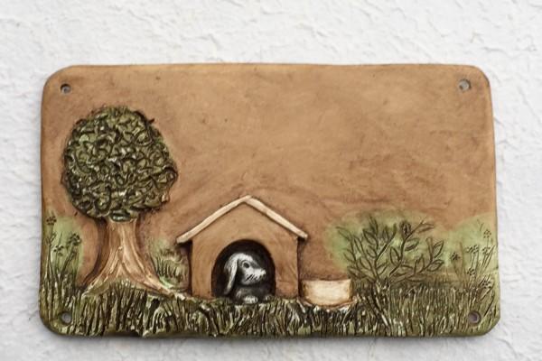 """Türschild """"Hundehütte"""""""