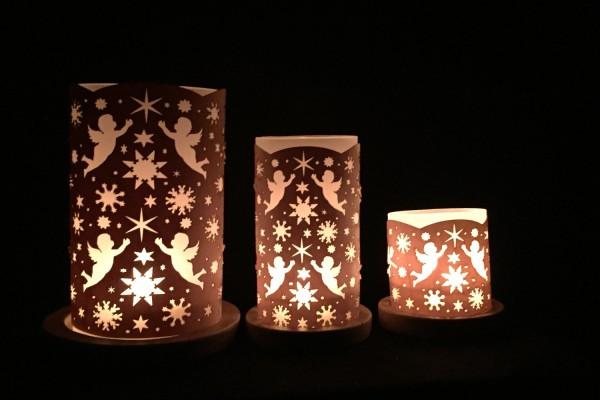 """Windlicht """"Engel mit Sternen"""""""