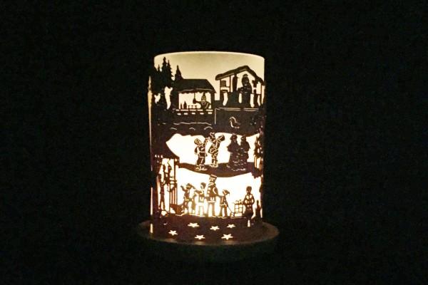 """Windlicht """"Weihnachtsmarkt"""""""