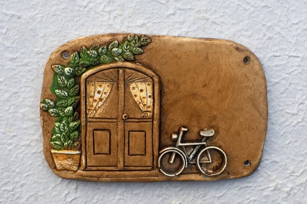 "door plate ""bicycle"""