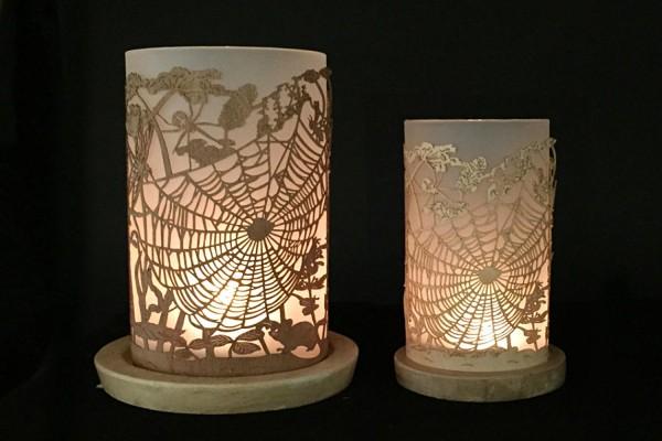Windlicht Spinnennetz