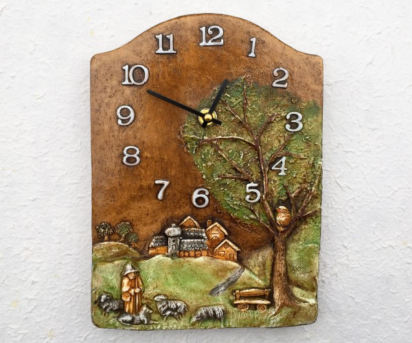 Wall clock with shepherd