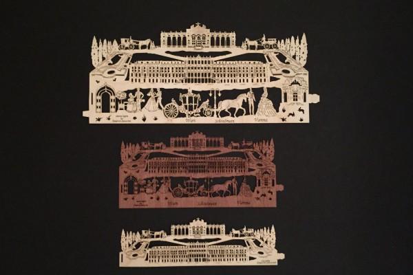 Ersatzfurnier Schloss Schönbrunn mit Gloriette