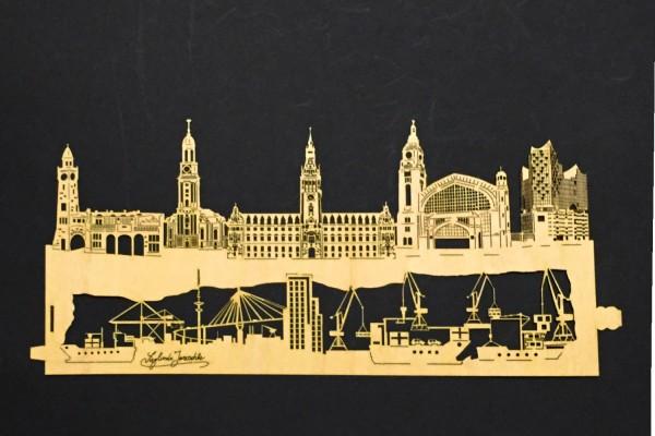 """Ersatz Furnierholz Design """"Hamburg"""""""