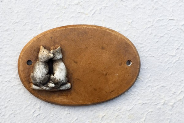 "door plate ""two cats"""